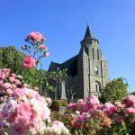 Eglise-et-fleurs-bourg-de-Nivillac