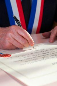 signature de maire